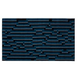 Dark Blue Waves Beach Towel