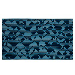 Mini Blue Waves Beach Towel
