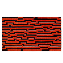 Orange Waves Beach Towel