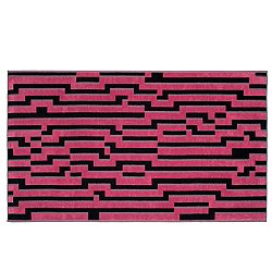 Pink Waves Beach Towel