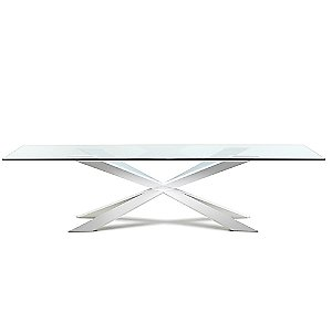 Spyder Wide Rectangle Dining Table, 94-Inch by Cattelan Italia