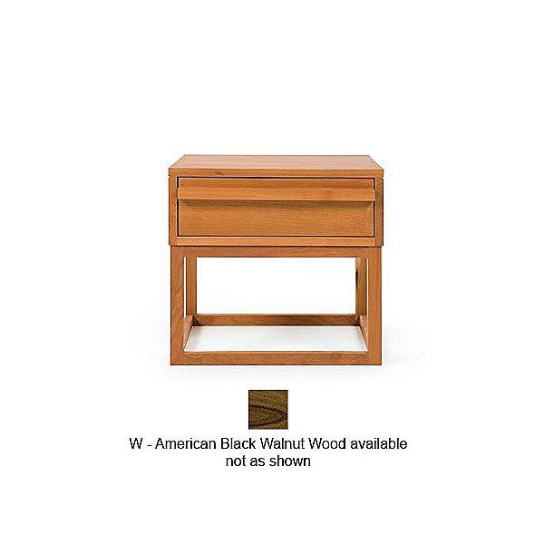 012 Atlantico Bedside Table W Black Walnut Wood OPEN BOX by De La Espada DLEY345497OB