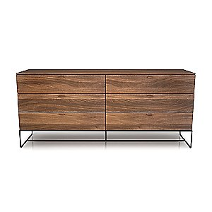 Linea 6 Drawer Dresser with Steel Base by Huppe