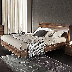 Vela Walnut Bed by Rossetto