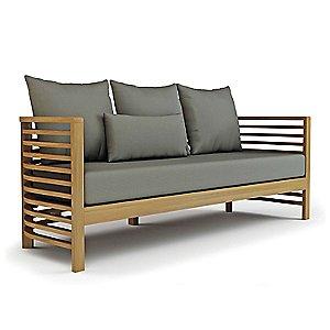 Spirals Teak 3 Seater Sofa by Seasonal Living