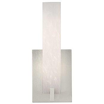 Shown in White Frit shade, Satin Nickel finish
