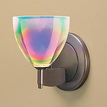 Shown in Rainbow Dichroic glass, Bronze finish