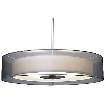 Shown in Satin Nickel with Silver Organza shade, Large size