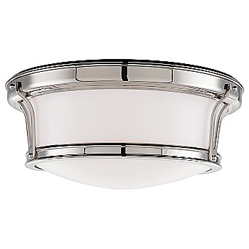 Shown in Polished Nickel finish, Medium size