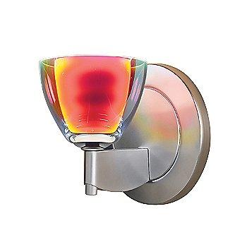 Shown in Sunrise Dichroic glass, Matte Chrome finish