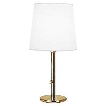 Shown in Polished Brass with White Fondine