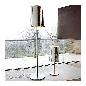 Shown in Mirror glass, Brushed Nickel finish