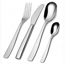 AJM22S24M - KnifeForkSpoon 24-piece Monobloc Cutlery Set, Polished