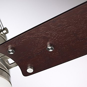 Shown in Brushed Steel w/ Dark Mahogany Blades & Opal Matte