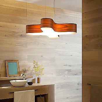 Orange finish, illuminated, in use