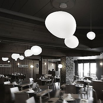 White shade / in use / illuminated