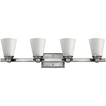 Shown in Brushed Nickel with Etched Opal finish, 6 Light
