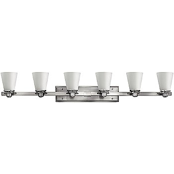 Shown in Brushed Nickel with Etched Opal finish, 4 Light