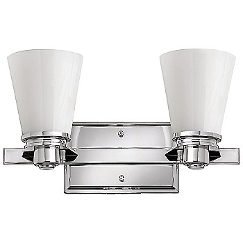 Shown in Polished Chrome with Cased Opal finish, 3 Light