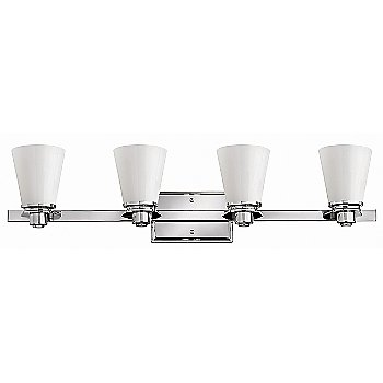 Shown in Polished Chrome with Cased Opal finish, 2 Light