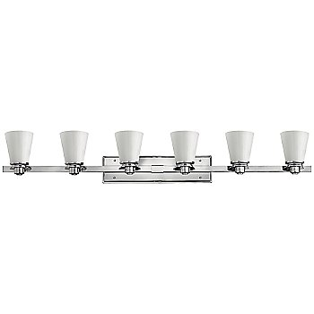 Shown in Polished Chrome with Cased Opal finish, 4 Light