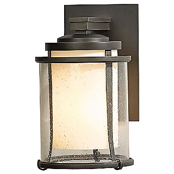 Shown in Clear with Opal glass, Dark Smoke finish, Small size