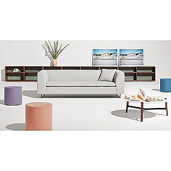 Bonnie Sofa with Bumper Ottoman, and Free Range Coffee Table