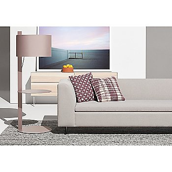 Bonnie Sofa with Mima Pillow and Note Floor Lamp with Table