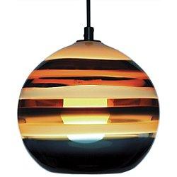Banded Orb Pendant Light