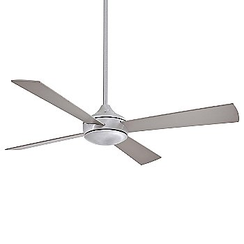 Brushed Aluminum with Silver Fan Body and Blade Finish / not illuminated