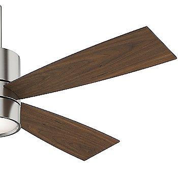 Brushed Nickel finish with Walnut blades