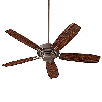 Oiled Bronze Fan Body with Oiled Bronze and Walnut Blade finish