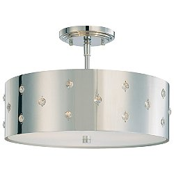 Bling Bling 3-Light Semi-Flush Mount