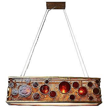 Distressed Kolorado with Amber glass, 36 inch