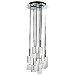 Spillray 12 Light Cluster Pendant Light