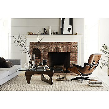 Noguchi Table with Eames Lounge Chair with Ottoman and Lispenard Sofa