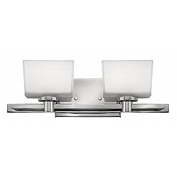 Chrome with Etched with White Painted Inside shade / 2 Light