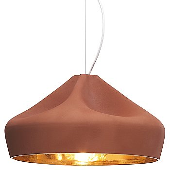 Shown in Terracotta with Gold shade