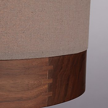 Shown in Heather Gray with Walnut, Antique Bronze finish