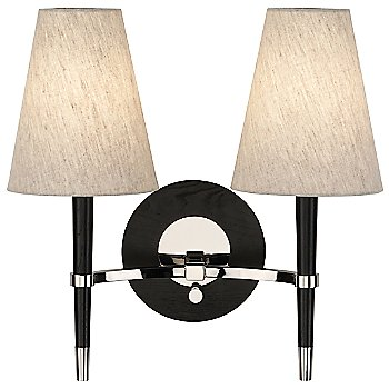 Shown in Ebony Finished Wood w/ Polished Nickel Accents