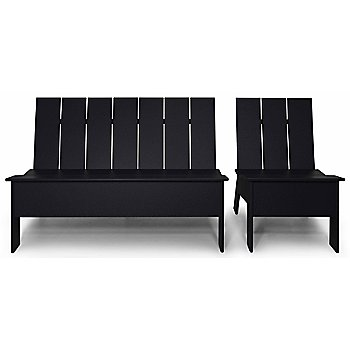 Shown in Black with Low Back Double Chair