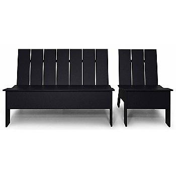 Shown in Black with Low Back Chair