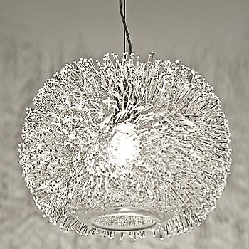 Shown in Nickel Silver with White shade, Small size