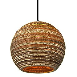 Moon Scraplight Natural Pendant Light