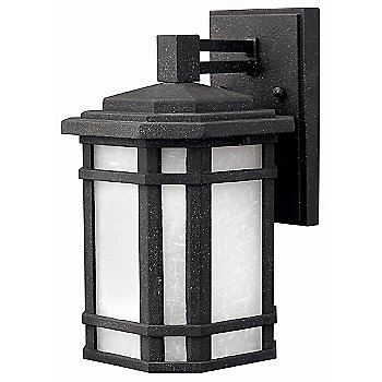 Shown in Vintage Black with White Linen shade, Small
