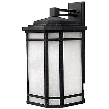 Shown in Vintage Black with White Linen shade, Large
