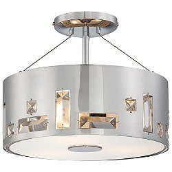 Bling Bang 3-Light Semi-Flush Mount
