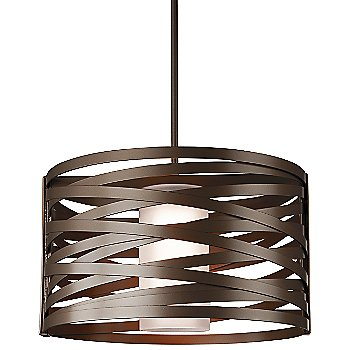 Shown With Glass Shade, Flat Bronze finish, 24 inch