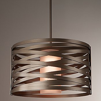 Shown With Glass Shade, Flat Bronze finish, 18 inch