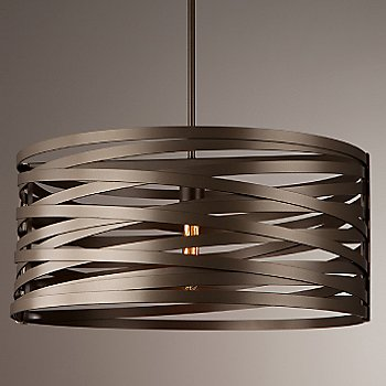 Shown in No Glass Shade, Flat Bronze finish, 24 inch